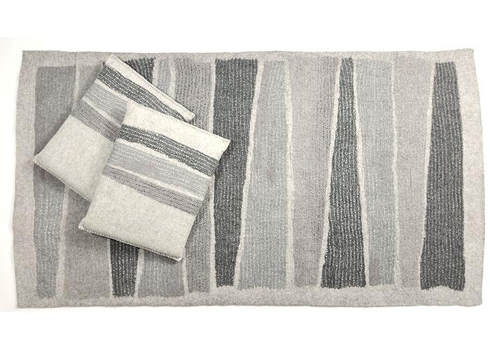 tapis et coussins en feutre Gris