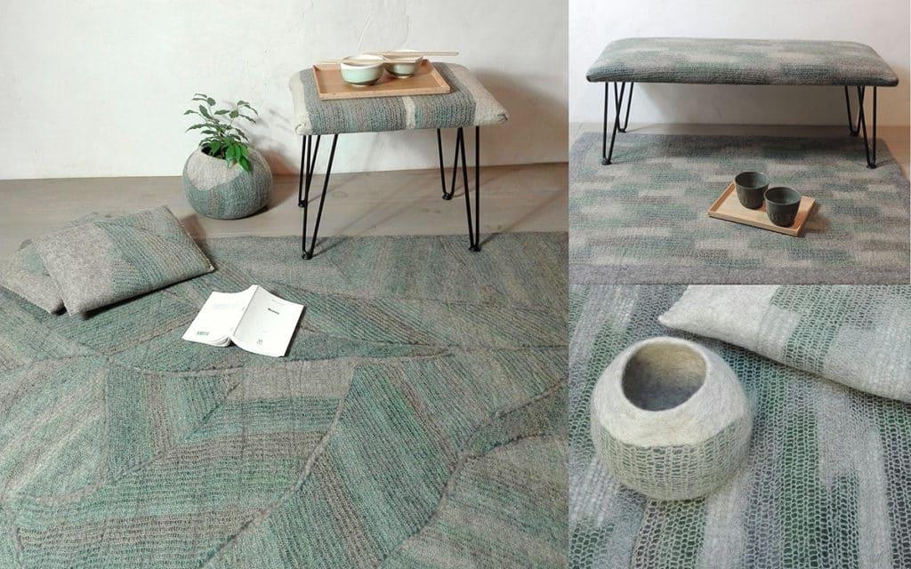 feutre-vert-bleu-lichen-decor-serein-jardin