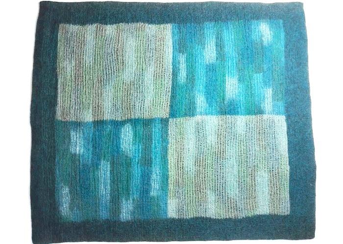 Tapis en feutre de laine Outremer