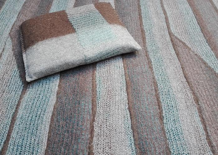 tapis et coussins en feutre de laine