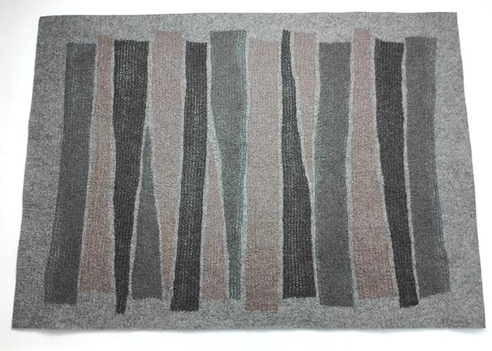 tapis en feutre de laine fait-main