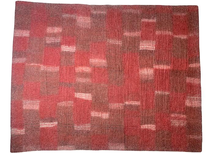 Tapis en feutre Rouge Brun, motif Mosaïque