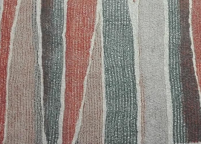 tapis en feutre de laine, détail matière